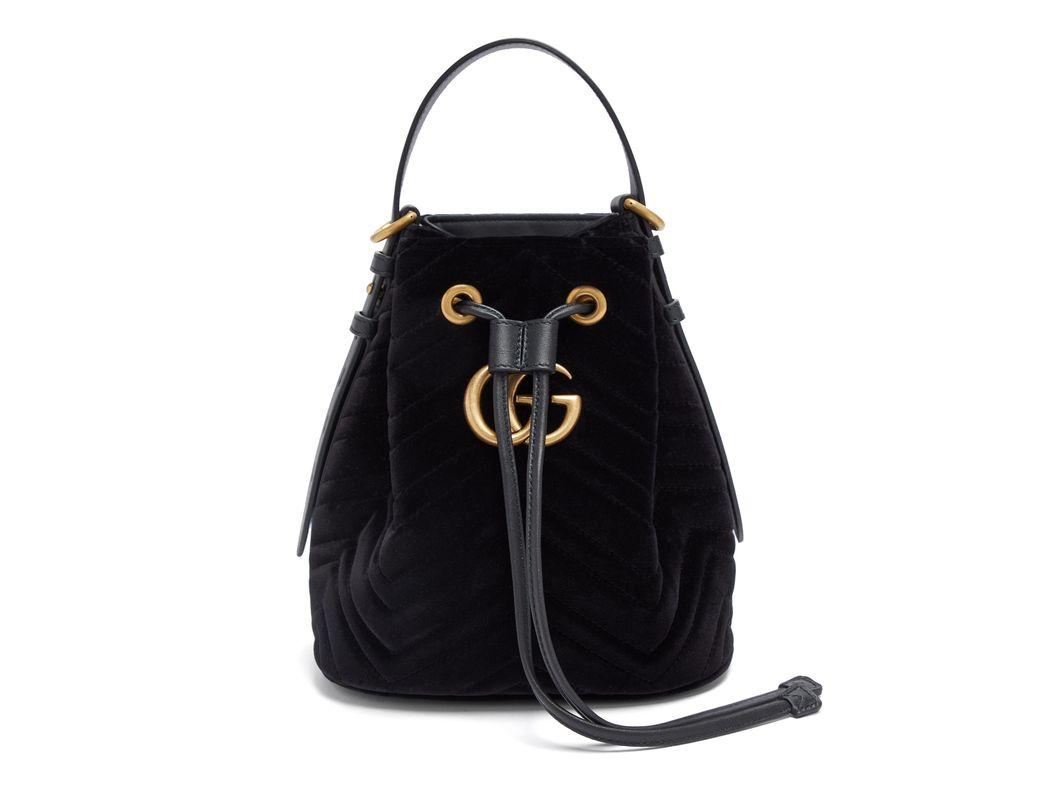 26a71b1e726 Gucci. Women s Gg Marmont Velvet Bucket Bag
