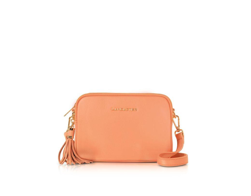 5a714ffb26dcf3 Lancaster Paris Orange Leather Shoulder Bag in Orange - Save 33% - Lyst