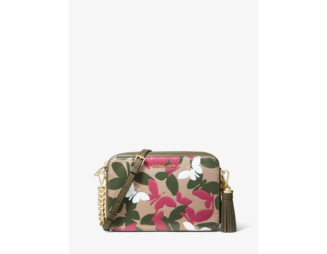 ebbbf25345a8 MICHAEL Michael Kors. Women s Green Ginny Medium Butterfly Camo Leather  Crossbody