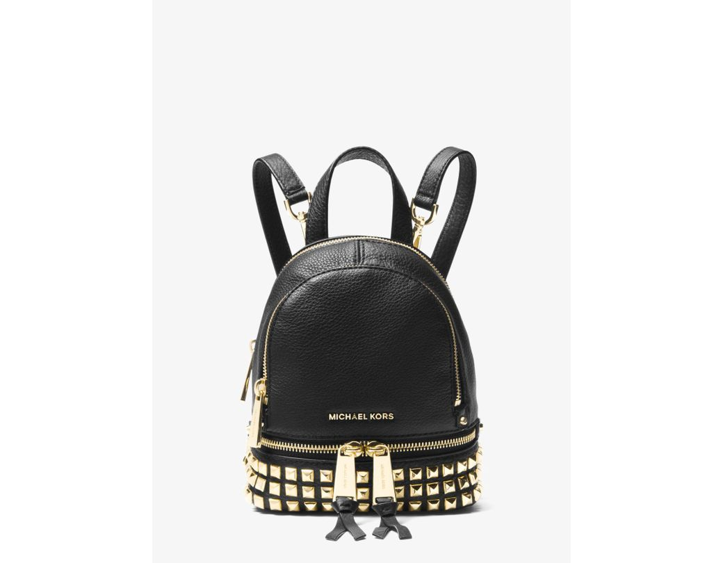 8613a147fd38 Long-Touch to Zoom. Long-Touch to Zoom. 1  2  3  4  5. Michael Kors - Black Rhea  Mini Studded Leather Backpack ...
