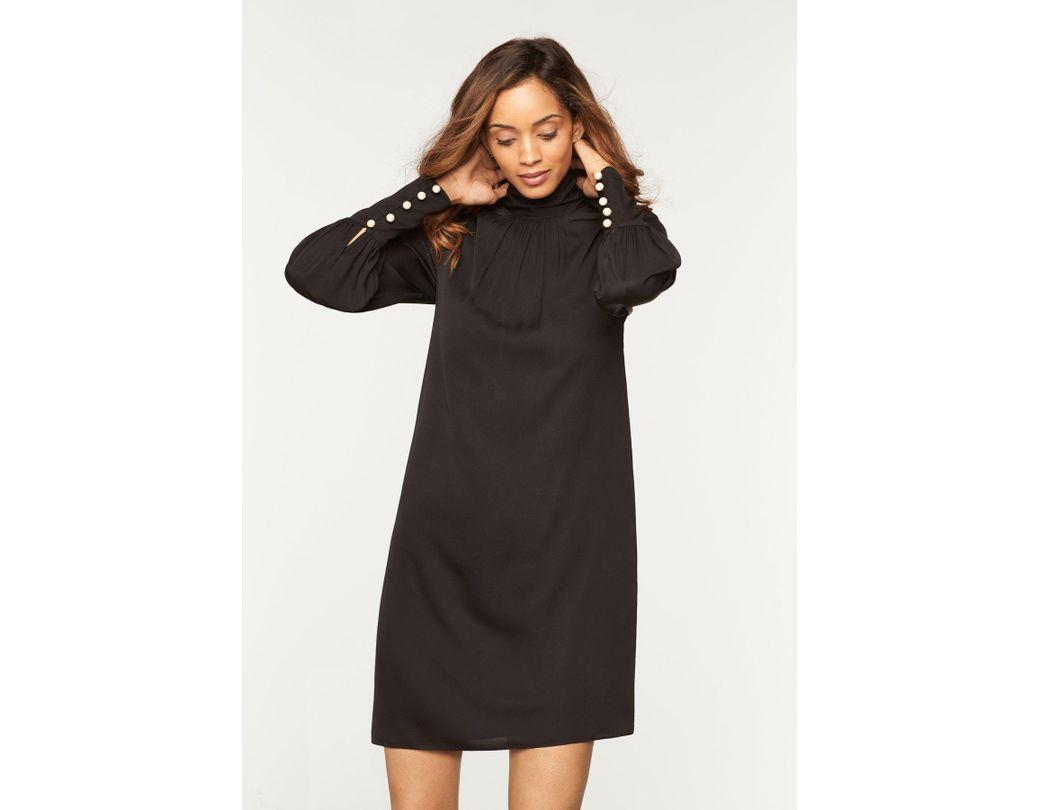 a69cafcc3e2a MILLY Stretch Silk Annabel Dress in Black - Lyst
