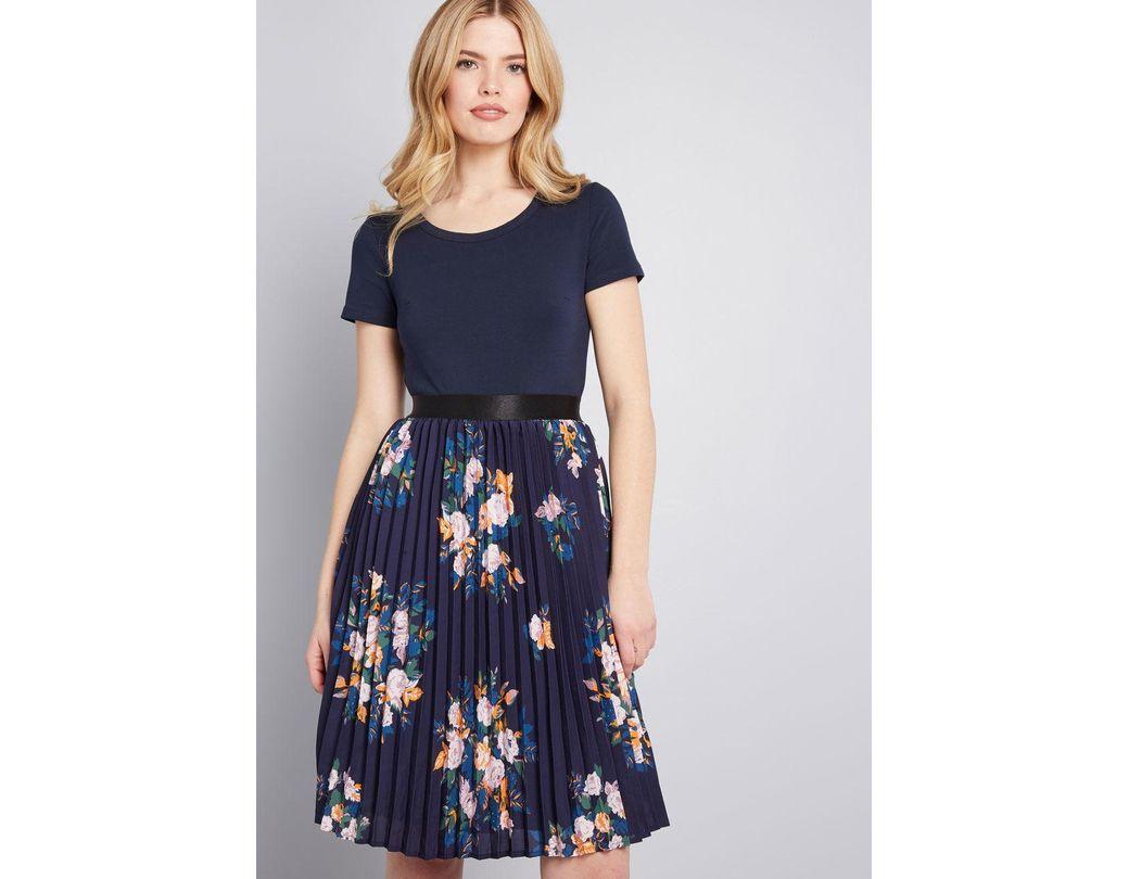f6fd7b62575a6 ModCloth Just Splendid Short Sleeve Dress in Blue - Save 48% - Lyst