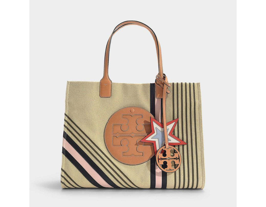 0a4b85b83 Tory Burch Ella Printed Canvas Tote In Ivory Etoile Calfskin in ...