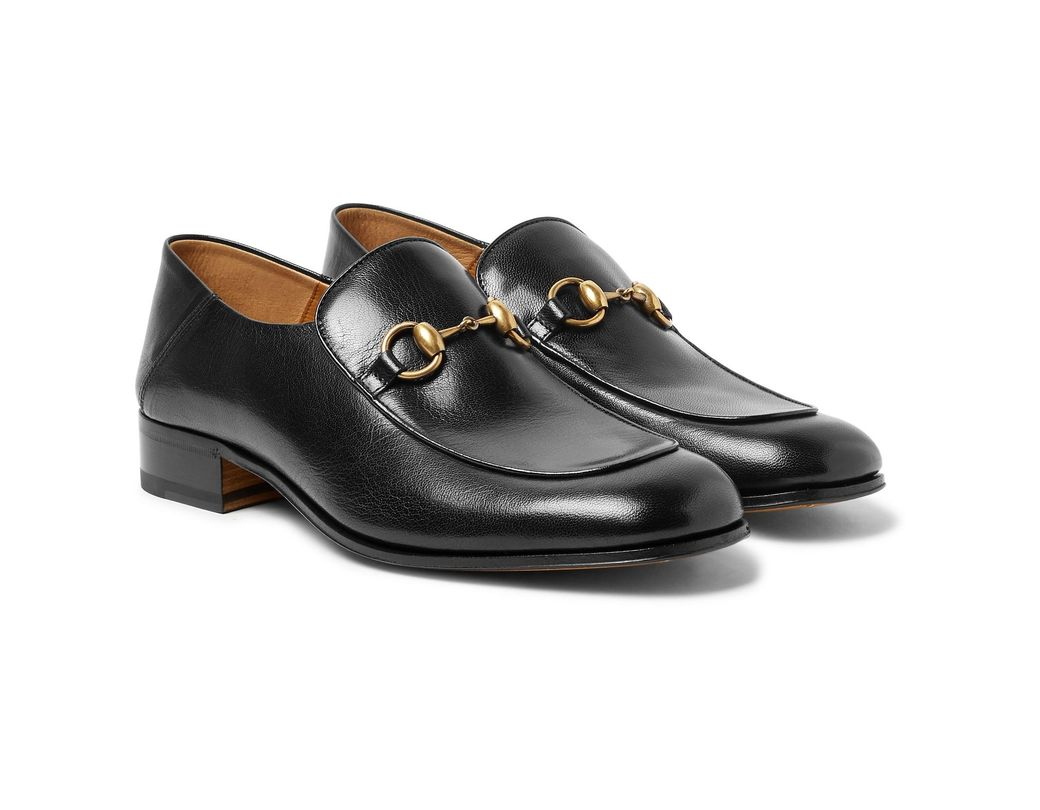 9b086e622a7 Gucci Mister Horsebit Collapsible-heel Leather Loafers in Black for ...