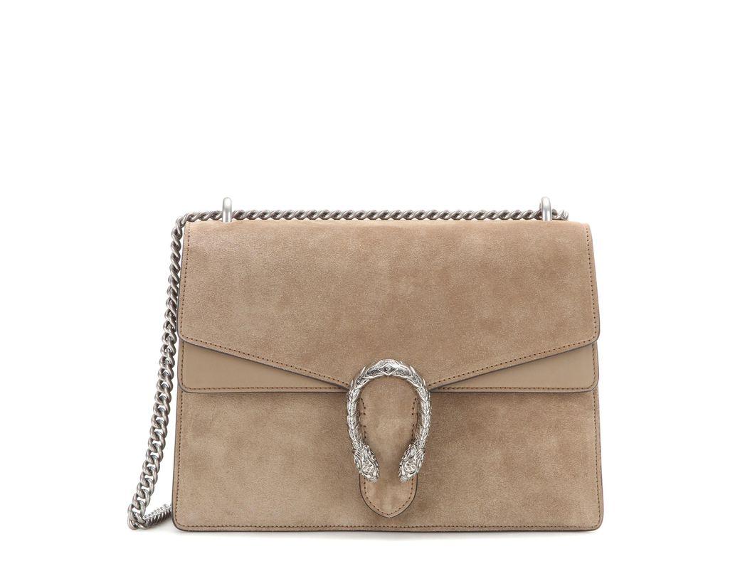 8110243ceaa Gucci Dionysus Medium Suede Shoulder Bag in Brown - Lyst