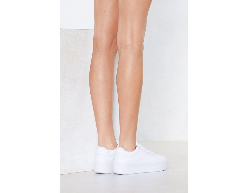 d3fe41de89b Women's White Rise Up Platform Sneaker