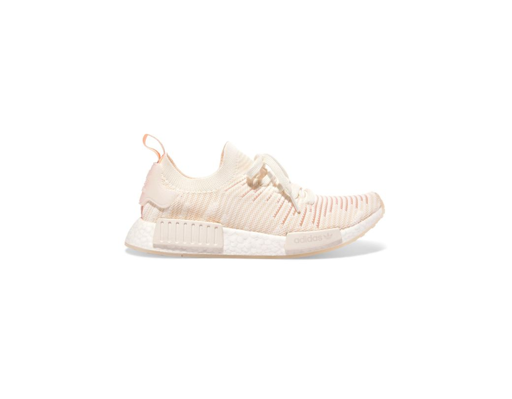 5afb6abe7 adidas Originals. Women s White Nmd r1 Rubber-trimmed Primeknit Trainers
