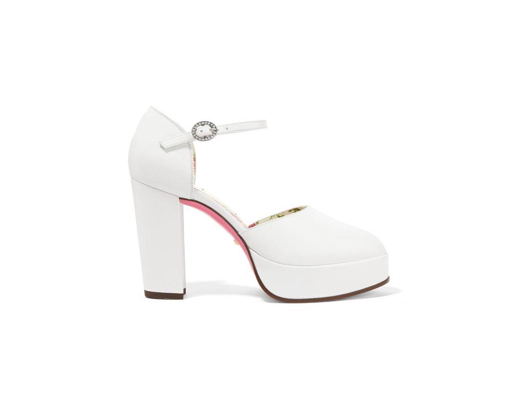 96d3c2f040c Gucci. Women s White Embellished Platform Court Shoes