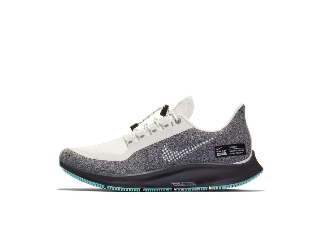0ba35b2461e5d Nike. Women s White Air Zoom Pegasus 35 Shield Water-repellent Running Shoe