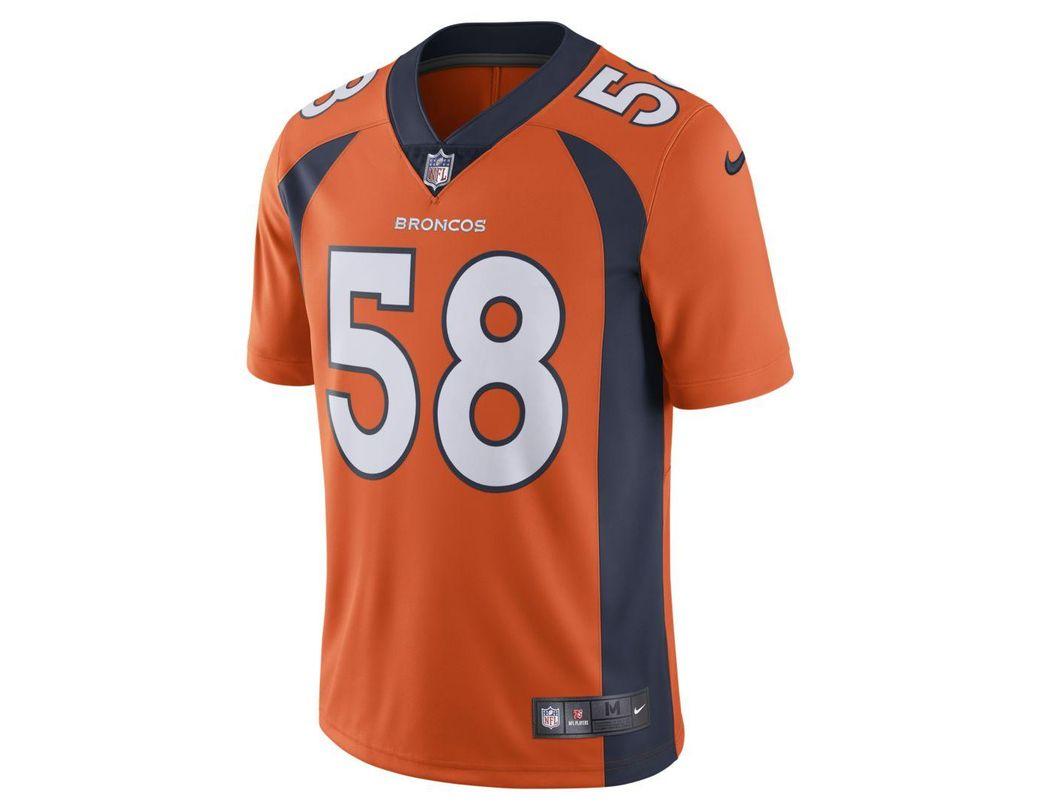 c1ba065c Nike Nfl Denver Broncos (von Miller) Limited Vapor Untouchable Football  Jersey in Orange for Men - Save 25% - Lyst