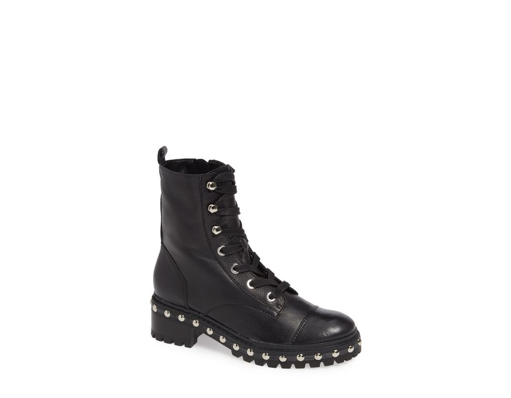 01a76897c265 Schutz Andrea Studded Combat Boot in Black - Save 60% - Lyst