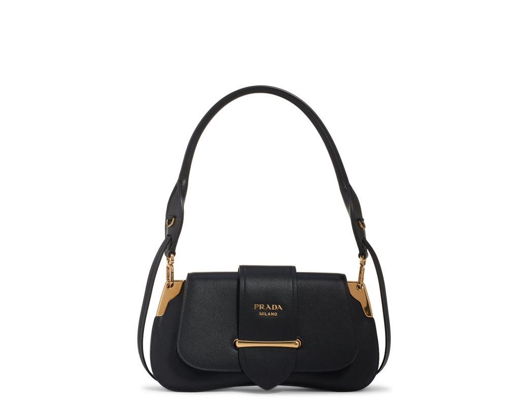 84169eeab76 Lyst - Prada Saffiano Leather Top Handle Bag - in Black