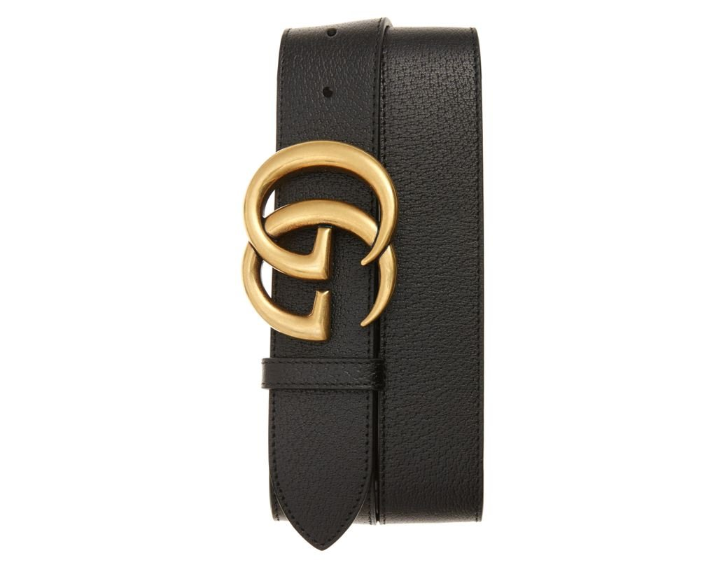 1c908ae7996 Long-Touch to Zoom. Long-Touch to Zoom. 1  2. Gucci - Black Marmont Logo Leather  Belt for Men - Lyst ...