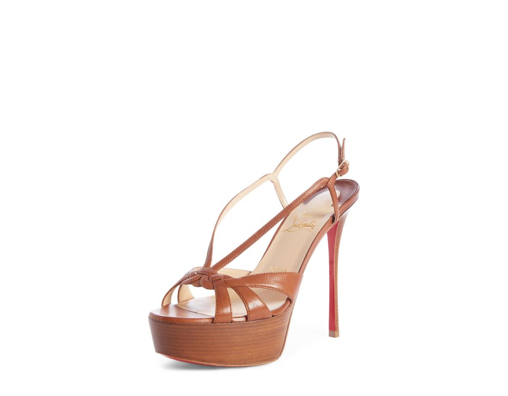5f35561a8921 Lyst - Christian Louboutin Veracite Platform Sandal in Pink