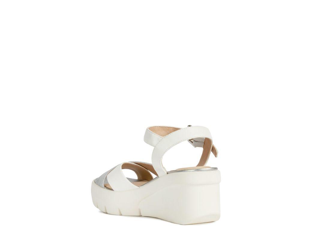 456853b8df Geox Torrence Platform Sandal in White - Lyst