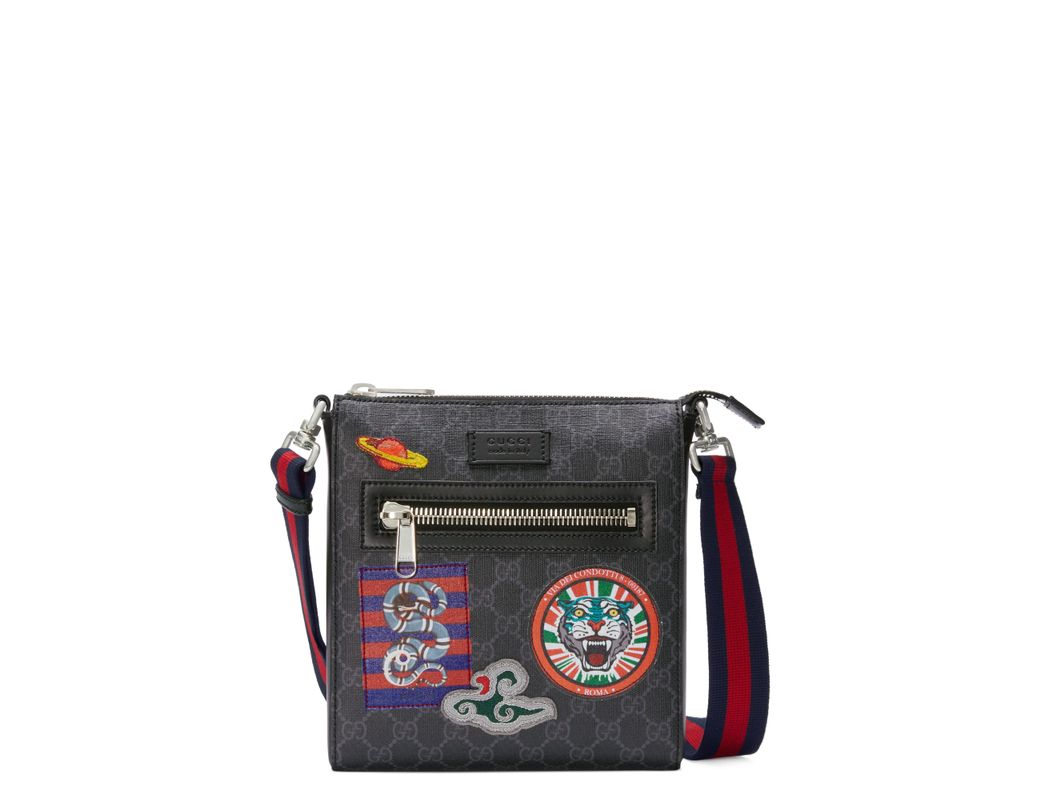 2c1d1ab752b Lyst - Gucci Night Courrier GG Supreme Messenger in Black for Men ...