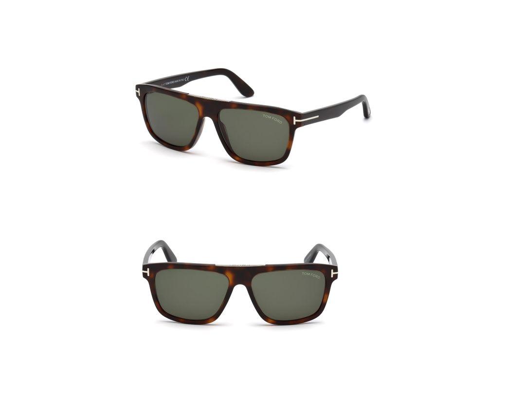 2e3f2cfa04 Tom Ford Cecilio 57mm Sunglasses - Dark Havana   Green in Green for ...