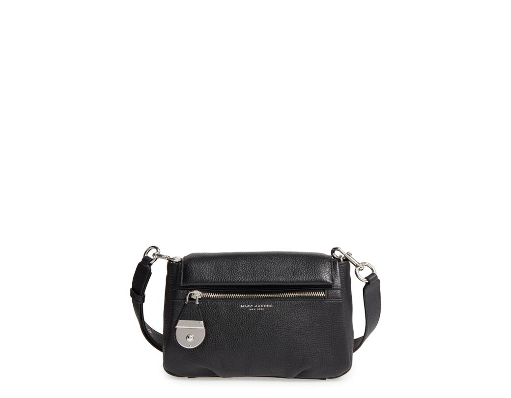 e17ac0011c99 Lyst - Marc Jacobs The Standard Mini Leather Crossbody Bag in Black - Save  1%