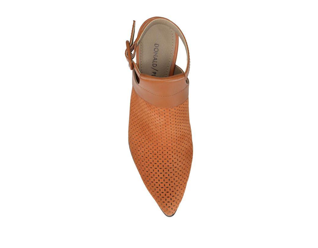 31a6c074544 Lyst - Donald J Pliner Varen Heel Cutout Perforated Bootie in Brown