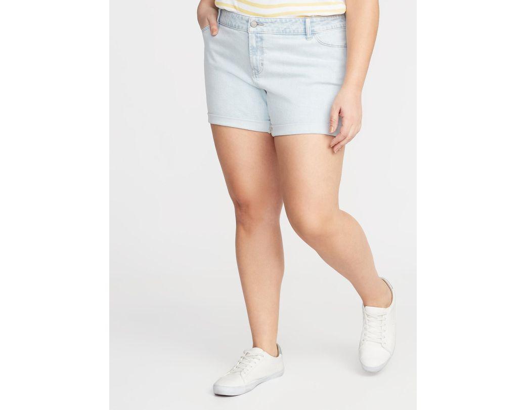 7bfeef8691 Lyst - Old Navy Boyfriend Plus-size Denim Shorts in Blue