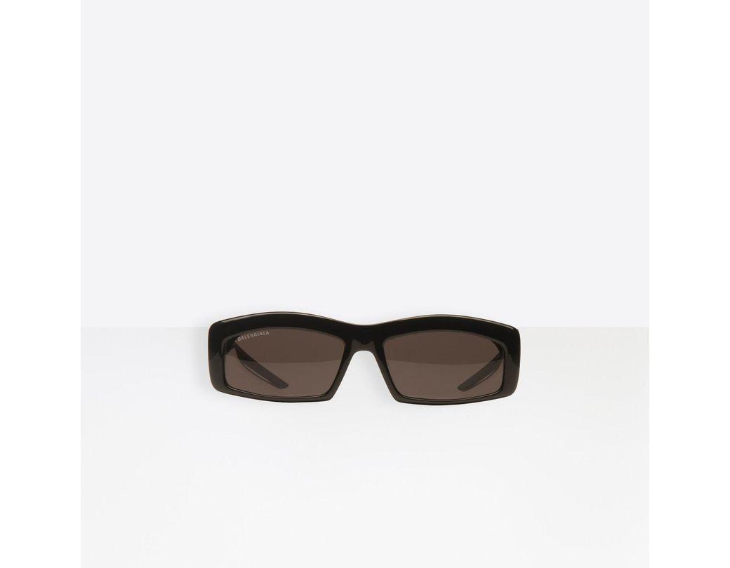 fad8f8c343ea Balenciaga Hybrid Rectangle Sunglasses in Black - Lyst