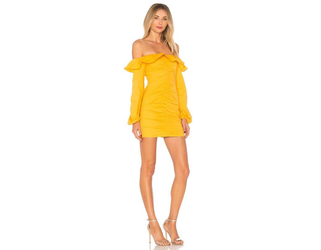 6198d6cbfa3 Lyst - Tularosa Zuri Dress in Yellow