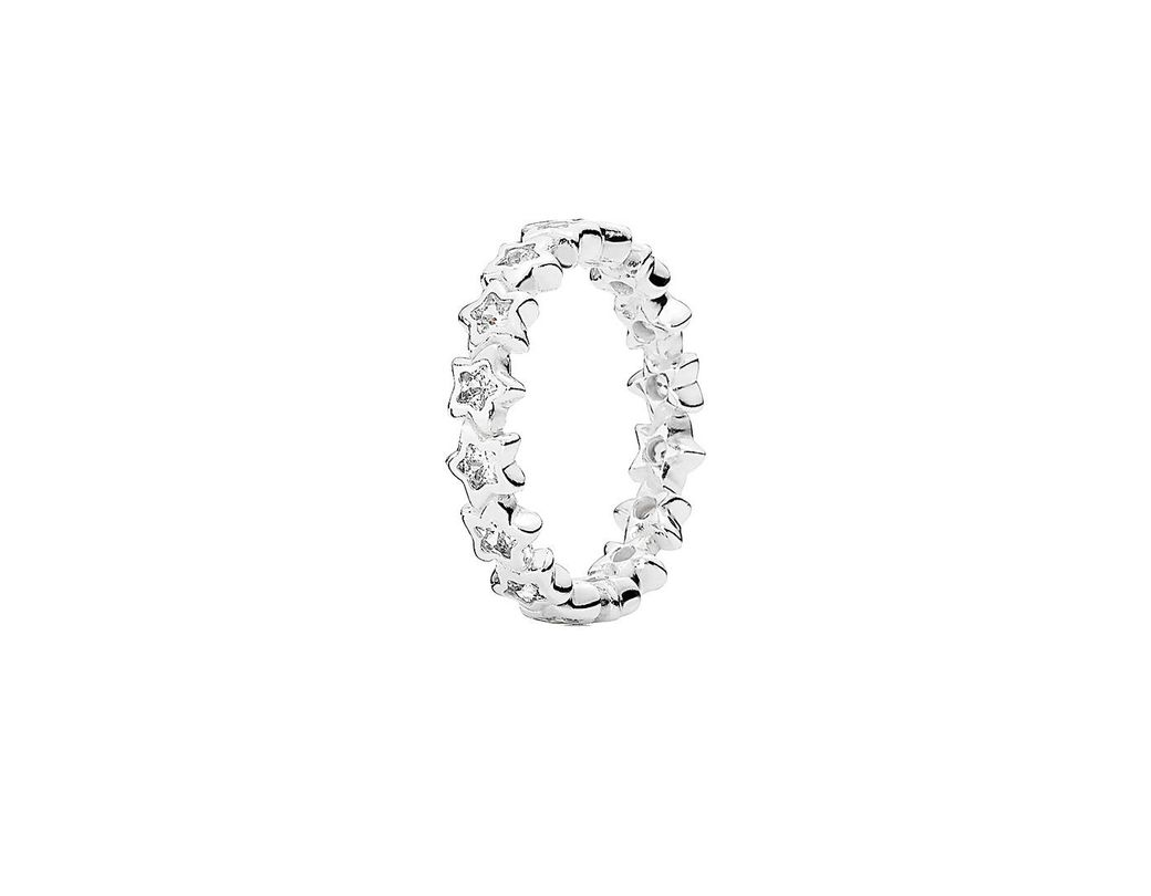 839a1587f PANDORA Starshine Silver Cz Ring in Metallic - Save 30% - Lyst