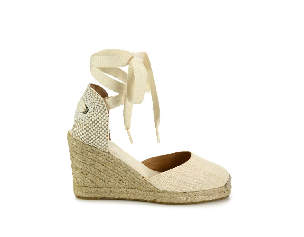 261c979b3e12 Lyst - Soludos Women s Canvas Ankle-wrap Wedge Espadrilles - Blush ...