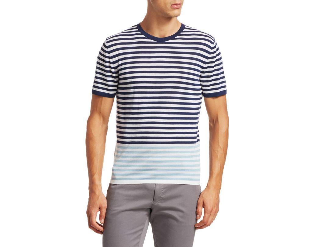 Men's Modern Striped Merino Wool T-shirt