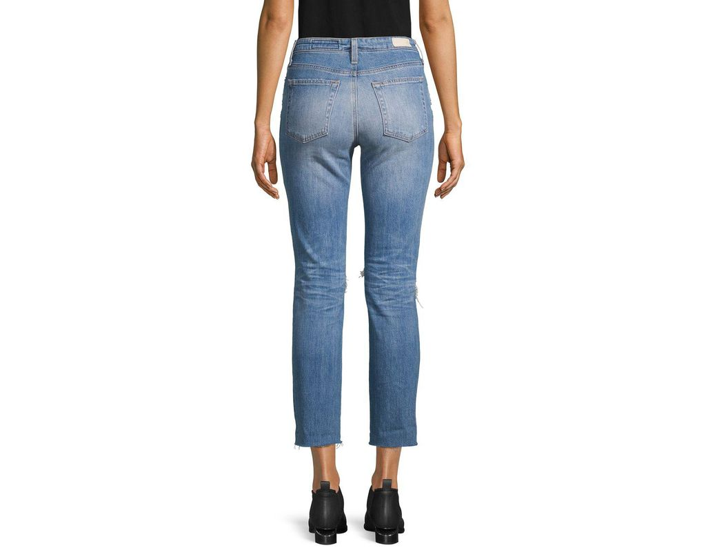 wholesale newest selection select for best Women's Blue The Isabelle High-rise Destroyed Crop Jeans