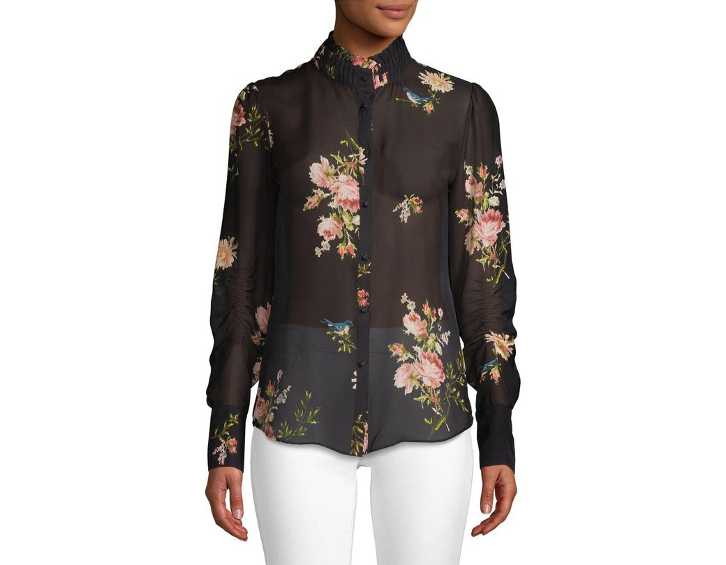 f71e3a4a0d3605 Joie Elzie Silk Blouse in Black - Save 73% - Lyst