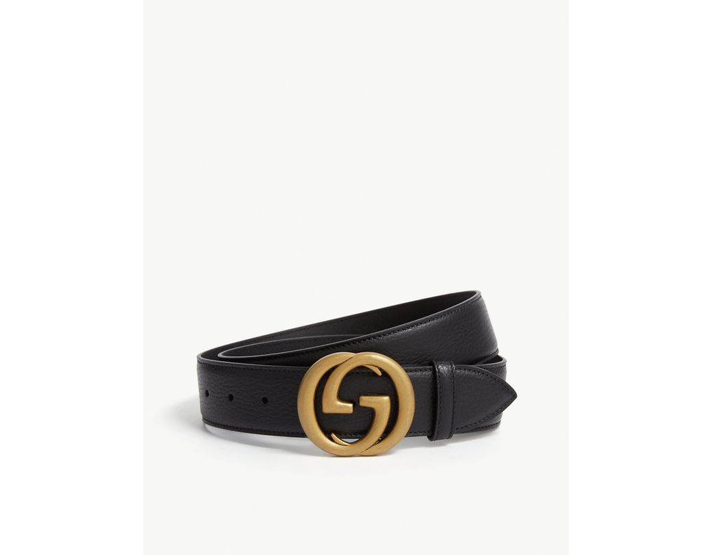 12a69b0a1d5 Lyst - Gucci GG Belt in Black for Men - Save 37%
