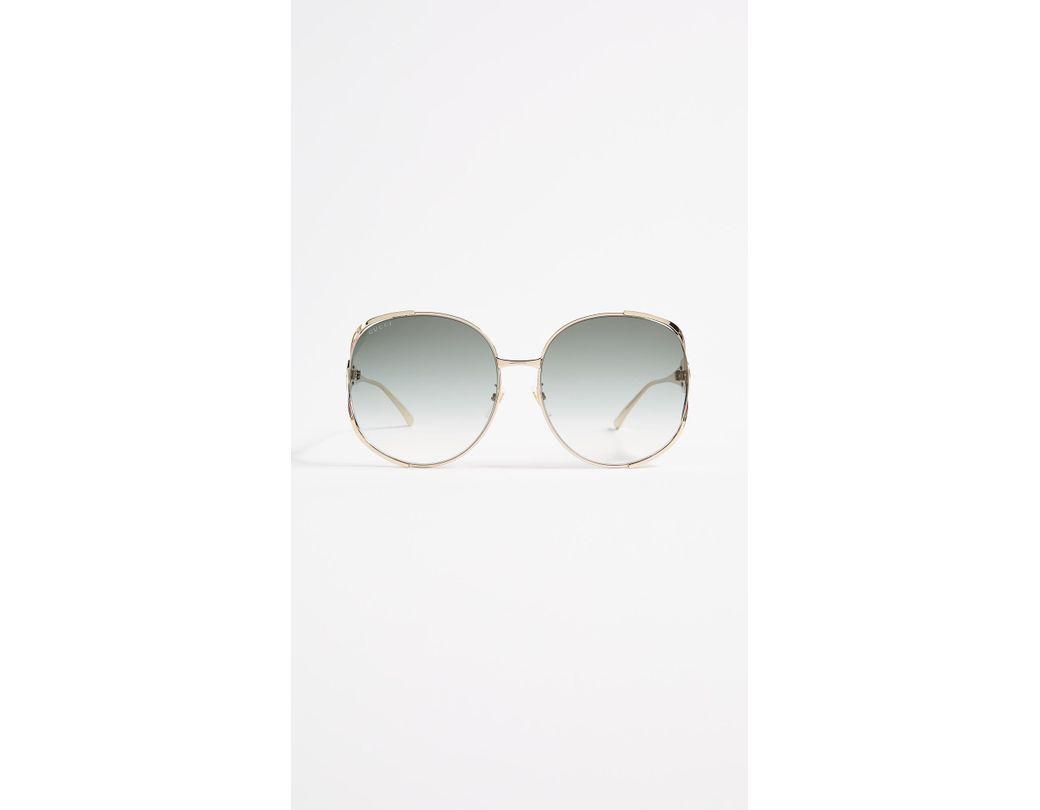 b2853238118 Gucci. Women s Urban Folk Oval Sunglasses