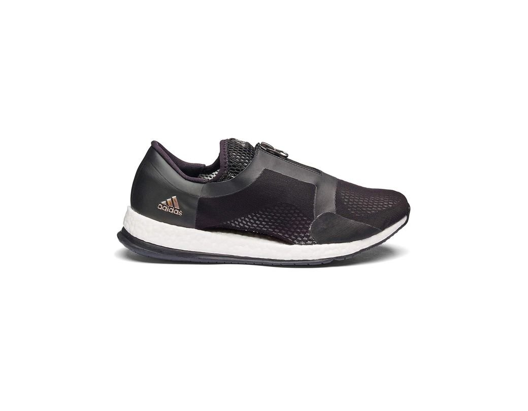 4c5418475 adidas Pure Boost X Zip Trainers in Black - Lyst