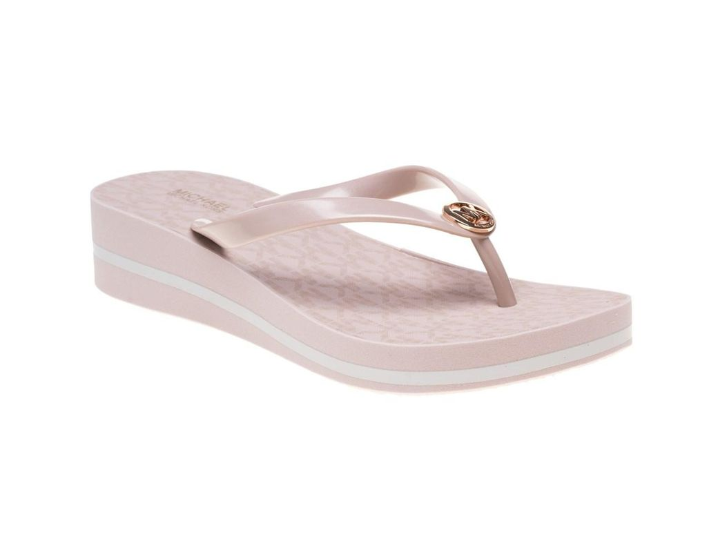 2987b5974877 Michael Kors Bedford Flip Flop Stripe Sandals in Pink - Lyst