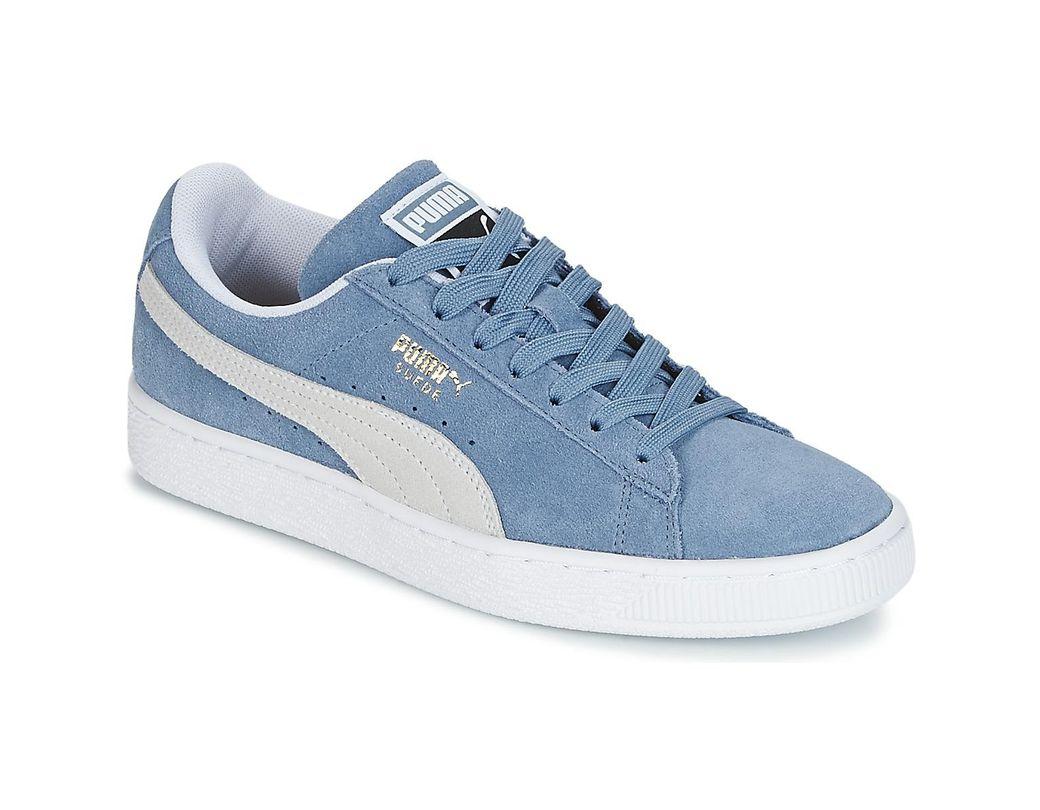 nouveau produit d26bf 868dc SUEDE CLASSIC femmes Chaussures en bleu