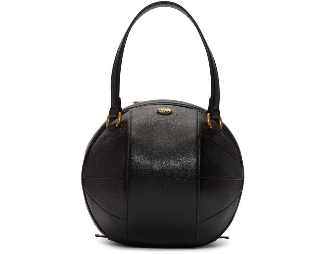 2a130202584 Gucci Black Tifosa Ball Tote in Black - Lyst