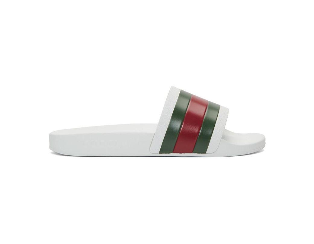 e326dd65bbe Lyst - Gucci White Pursuit Slides in White for Men - Save 24%