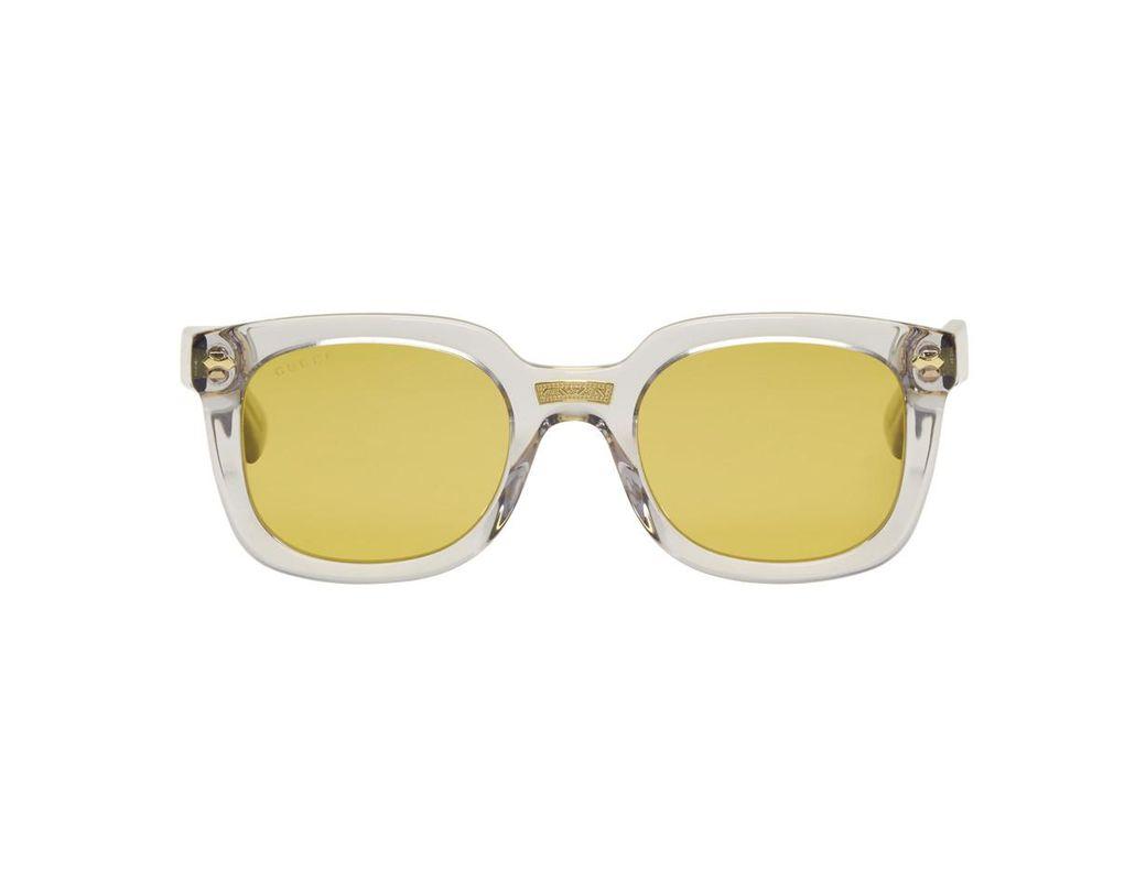 c61e17411ad Lyst - Gucci Grey Opulent Luxury Square Sunglasses in Gray for Men ...