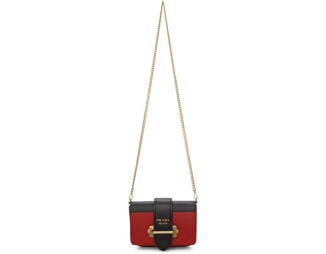 Prada Notebook En Bolso Lyst Cinturón Rojo Color K1lc3uTFJ