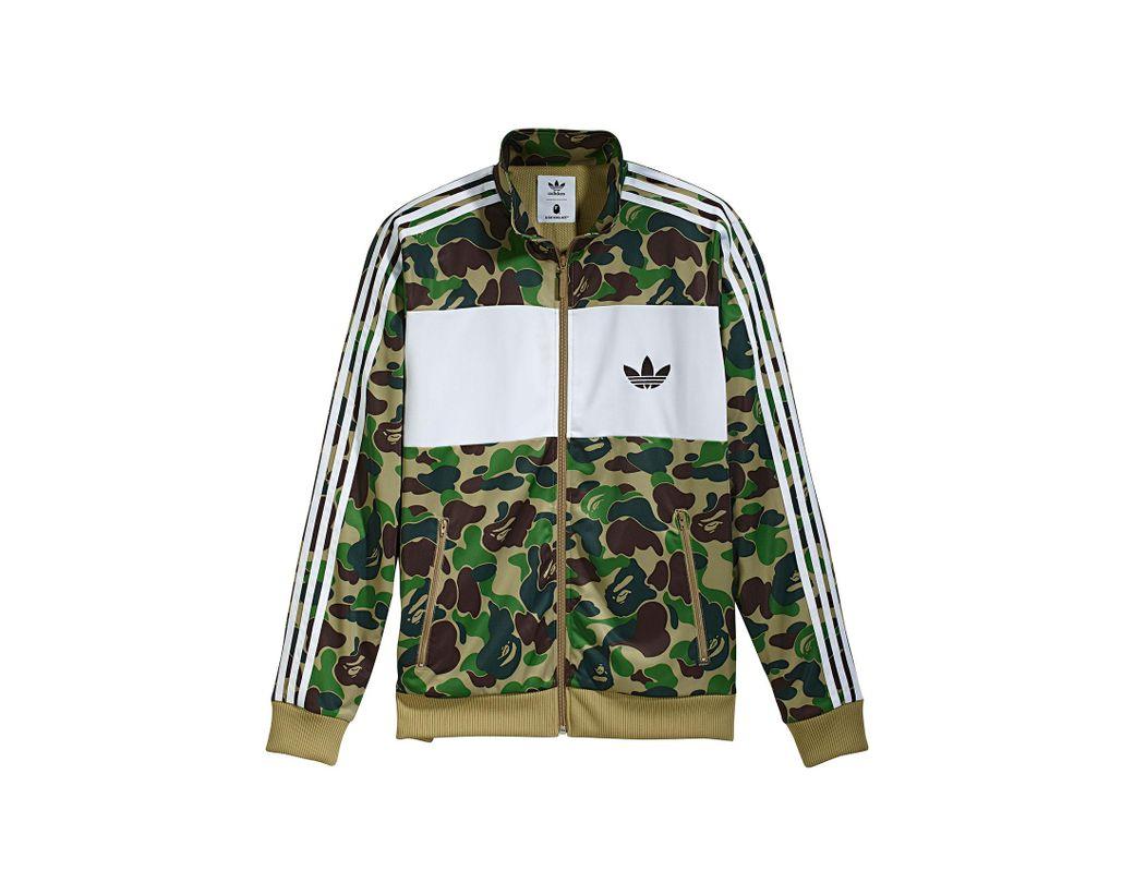b30518a53 A Bathing Ape X Adidas Abc Camo Track Jacket Green in Green for Men - Lyst