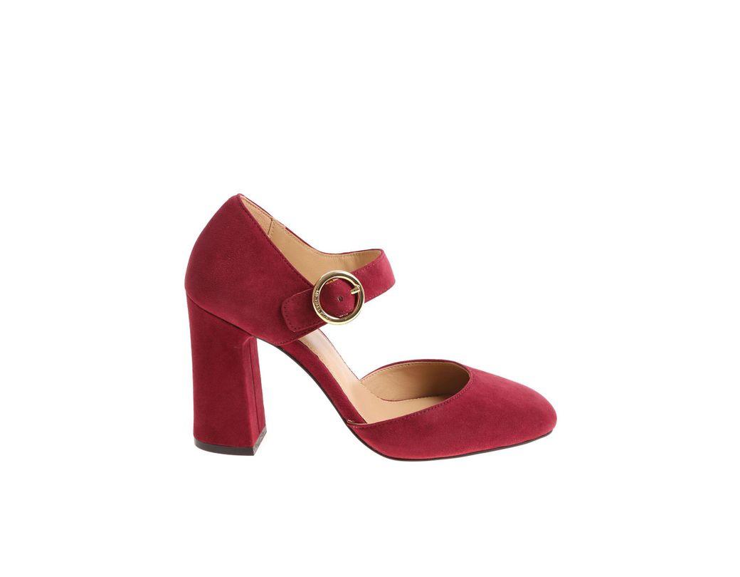 b9775947f3f1 Lyst - Michael Kors Burgundy Alana Pumps in Red