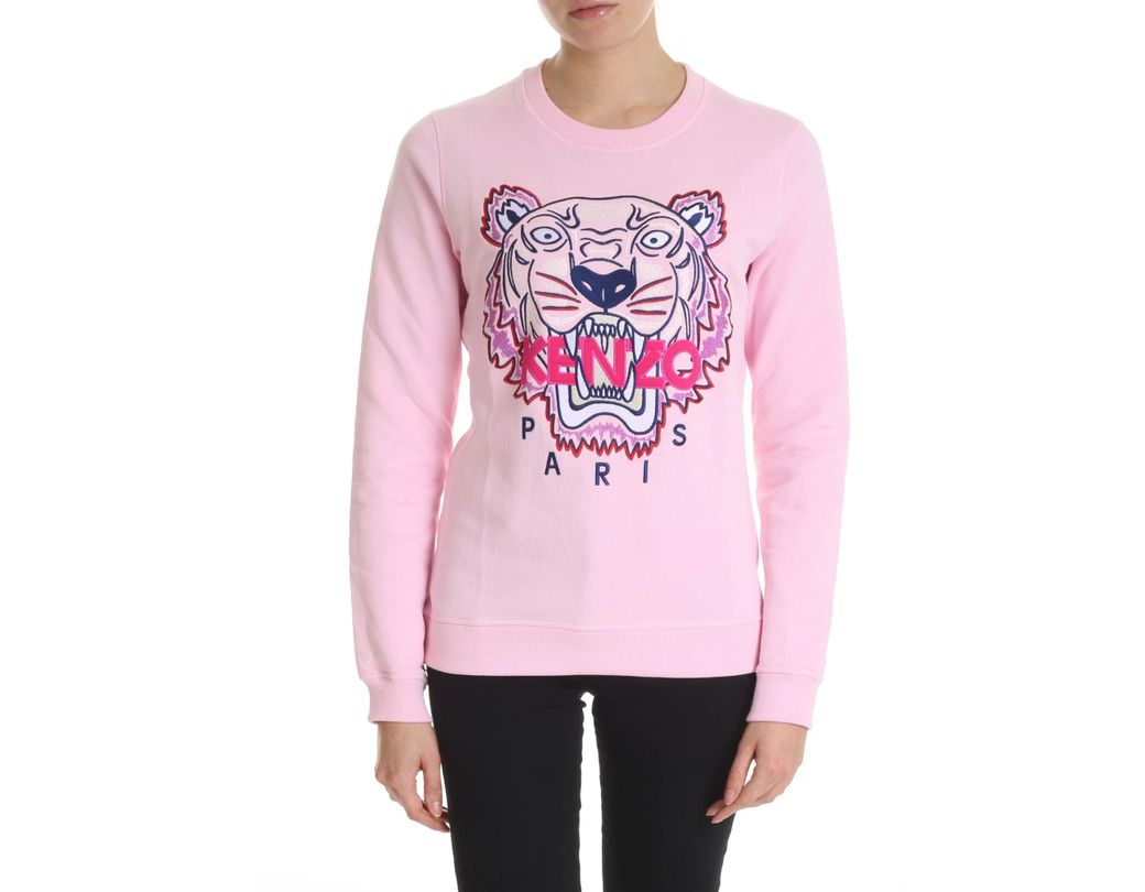 0c25d0e90 Lyst - KENZO Pink Sweatshirt With Blue And Purple Classic Tiger ...