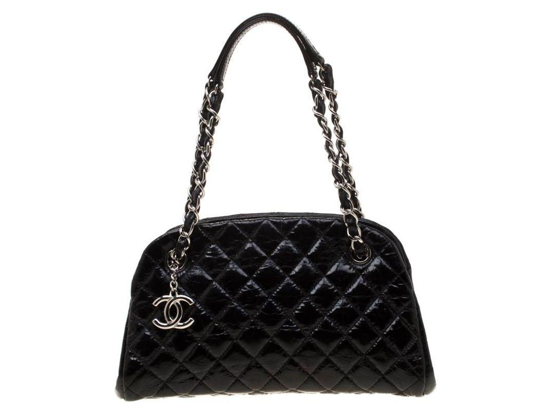 23f15da3dd5c Lyst - Chanel Black Quilted Leather Medium Mademoiselle Bowling Bag ...