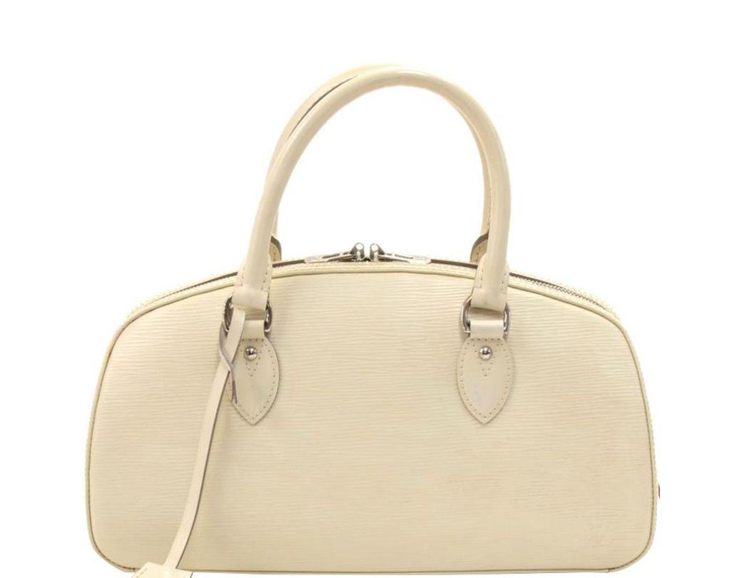 e97c5f381b34 Lyst - Louis Vuitton White Epi Leather Jasmin Bag in White
