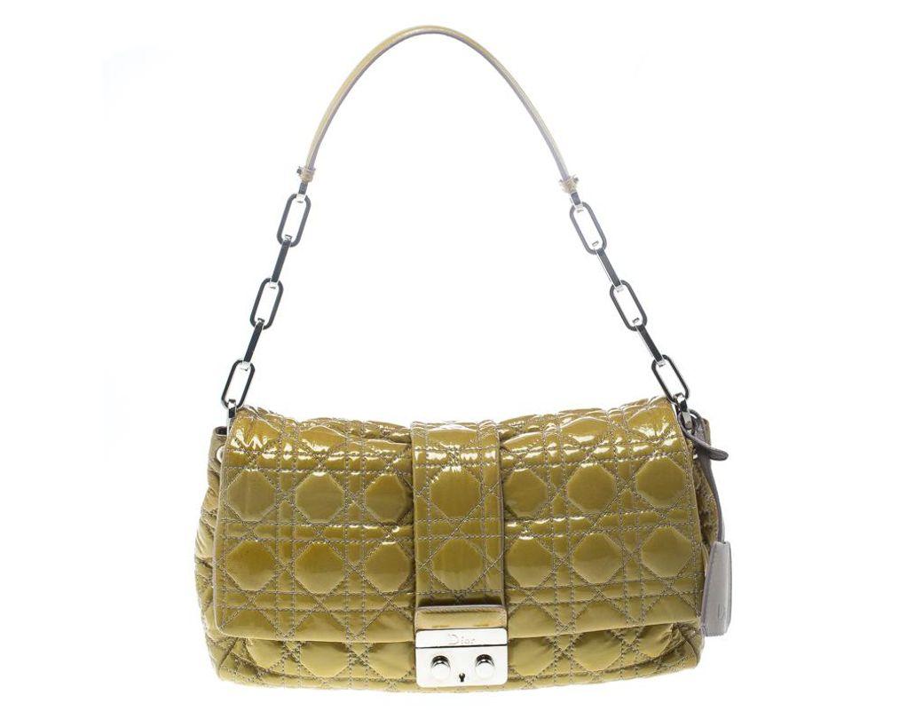 d14ec598fff Dior Mustard Cannage Leather New Lock Flap Bag in Yellow - Lyst