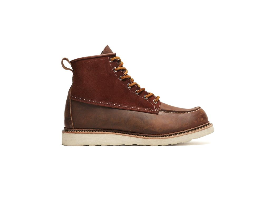 a029a6aff32 Men's Brown Exclusive Red Wing X Todd Snyder Moc Toe Boot In Copper