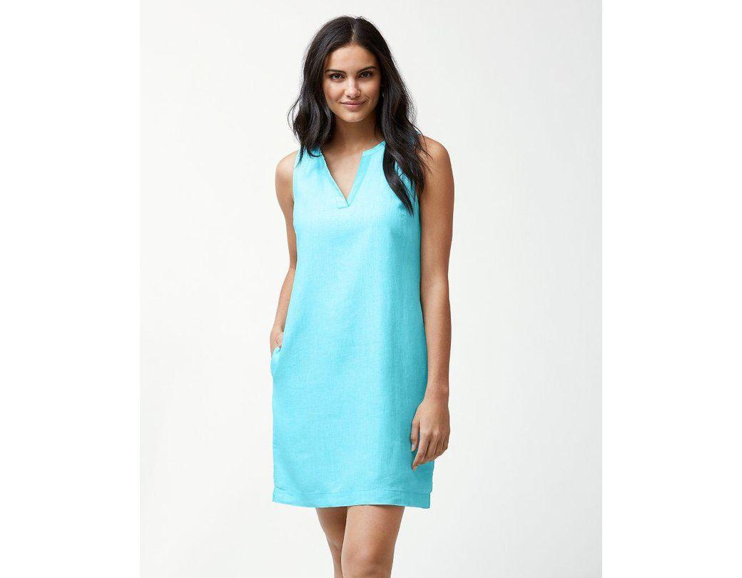11d7e119d60 Tommy Bahama Sea Glass Linen Shift Dress in Blue - Lyst