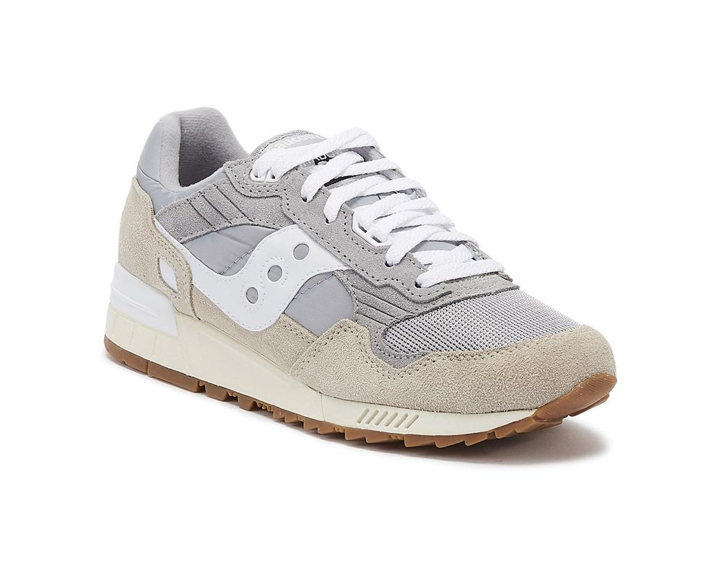 Details about Saucony Shadow 5000 Vintage Grey Green Trainers Sport Casual Lace Up Shoes