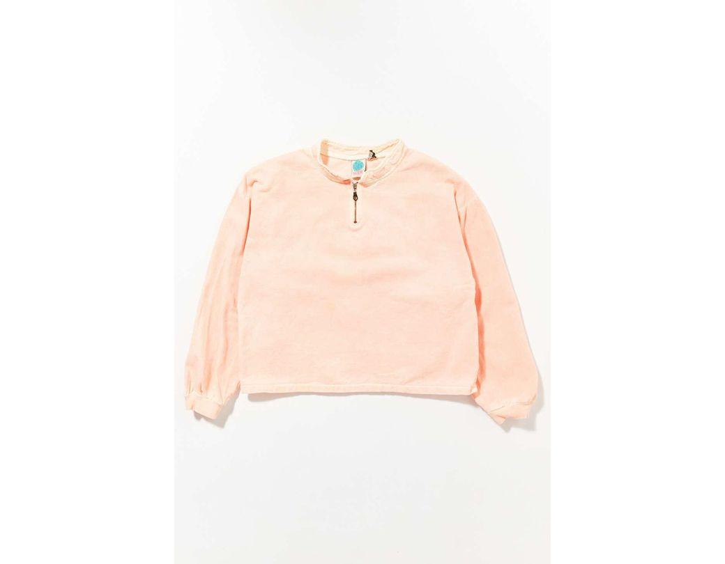 33052ea7 Lyst - Urban Renewal Vintage '90s Acid Wash Half-zip Sweatshirt